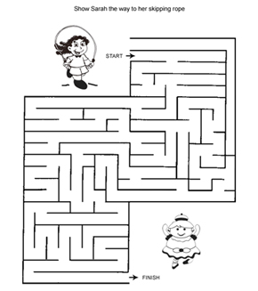 Little Girl And Doll Maze