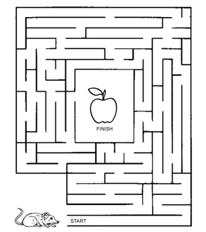 Mouse And Apple Maze