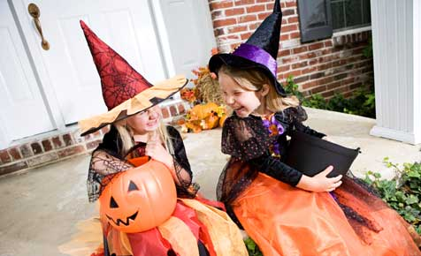Children celebrate Halloween