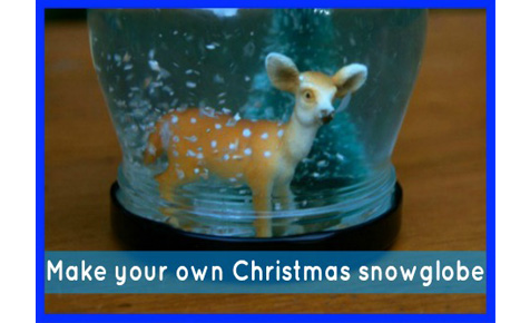 Make your own Christmas snowglobe
