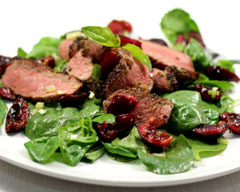 Lamb and cherry salad