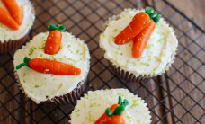 Carrot topped cupcakes
