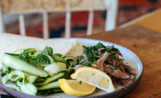 Lemon and thyme lamb wraps