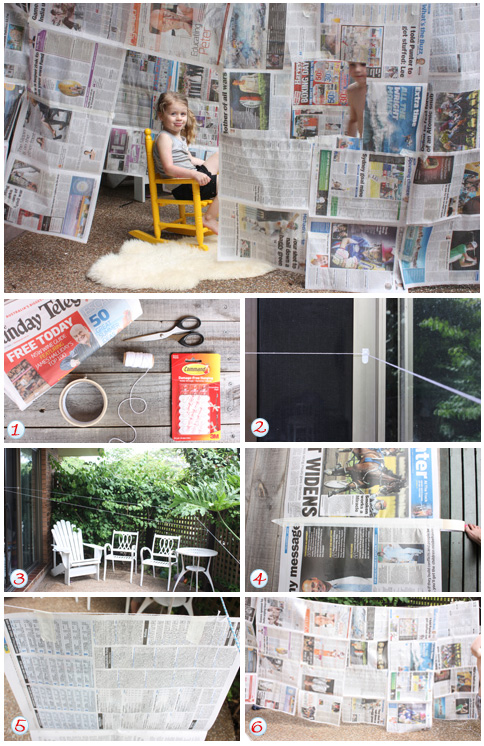 Newspaper House Build A Cubby Kids Craft