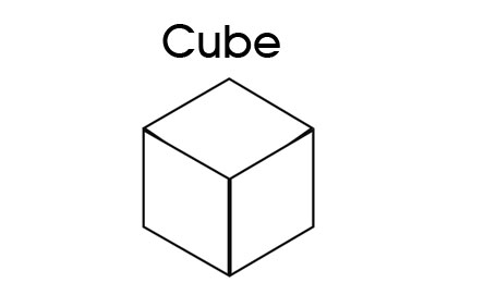 3d shapes for kids cube