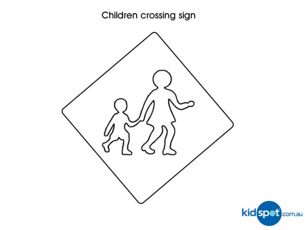 Traffic Signs  Road Safety  Colouring Pages