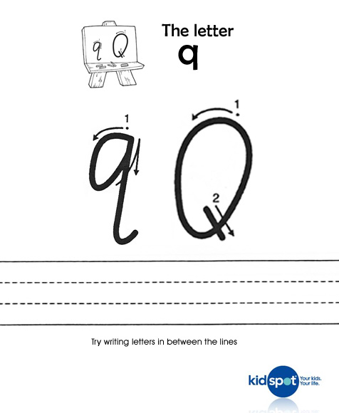 image relating to Letter Q Printable identified as Printable Sheets - Handwriting - Worksheets