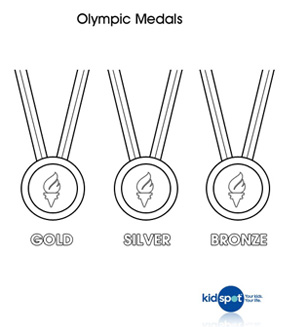 Olympic medal colouring page