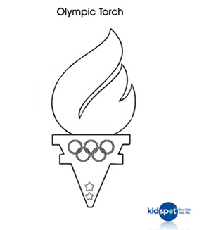 Olympic Torch colouring page