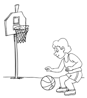 Basketball Colouring Page