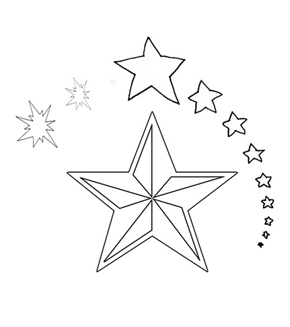 Christmas Star Colouring Page