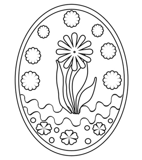 Easter Egg 5 Colouring Page
