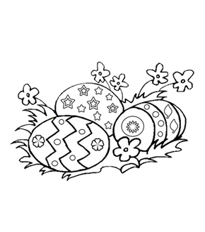 Easter Eggs Colouring Page