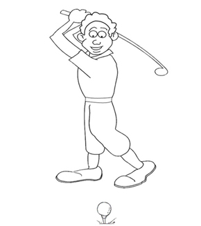 Golf Colouring Page