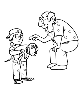 Grandpa and Grandson Colouring Page