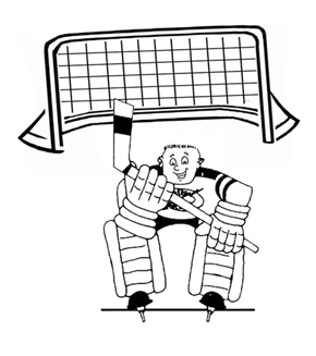 Hockey Goalie Colouring Page