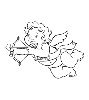 Little Cupid Colouring Page