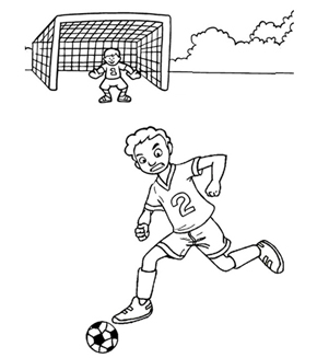 Soccer Colouring Page