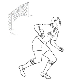 Soccer Player Colouring Page