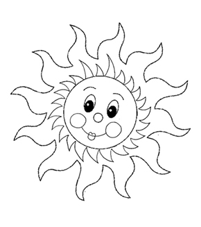 Sun Colouring Page