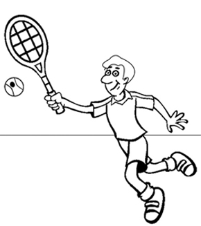 Tennis Colouring Page