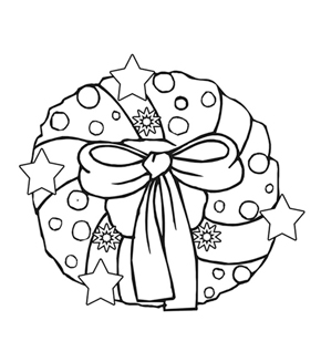 Wreath Colouring Page