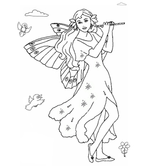 Arabella The Fairy Colouring Page