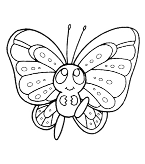 Baby Butterfly Colouring Page