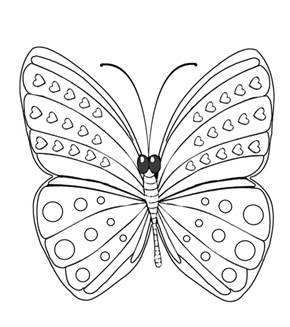 Basic Butterfly Colouring Page