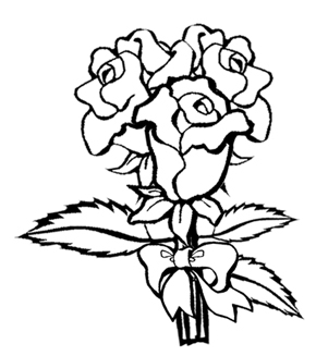 Beautiful Roses Colouring Page