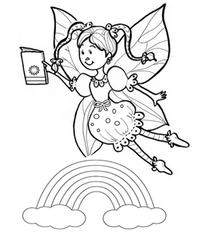 The Book Fairy Colouring Page