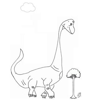 Brachiosaurus Colouring Page