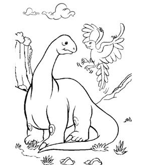 Brontosaurus Colouring Page
