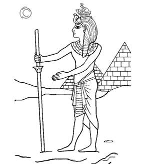 Egyptian Pharaoh Colouring Page
