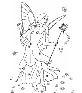 Francesca The Fairy Colouring Page