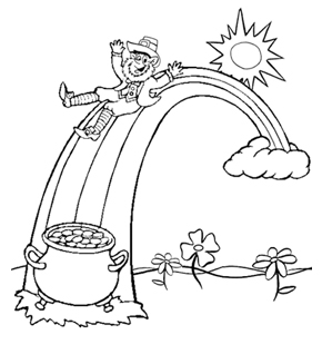 Leprechan Colouring Page