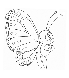 Little Butterfly Colouring Page