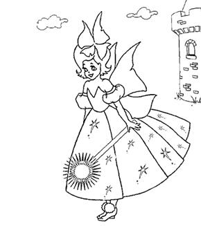 Princess Fiona Colouring Page