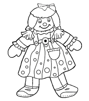 Rag Doll Colouring Page
