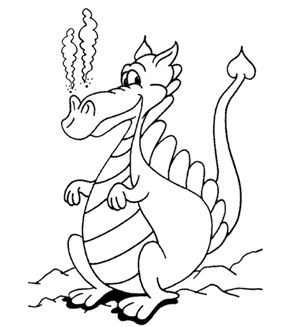 Sheepish Dragon Colouring Page