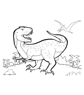 T-Rex Colouring Page