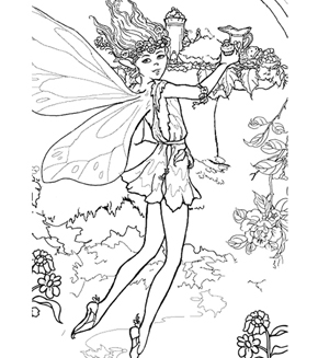 The Enchanted Fairy Colouring Page