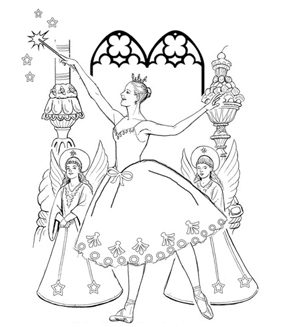The Sugarplum Fairy Colouring Page