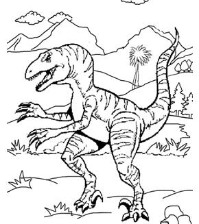 Velociraptor Colouring Page