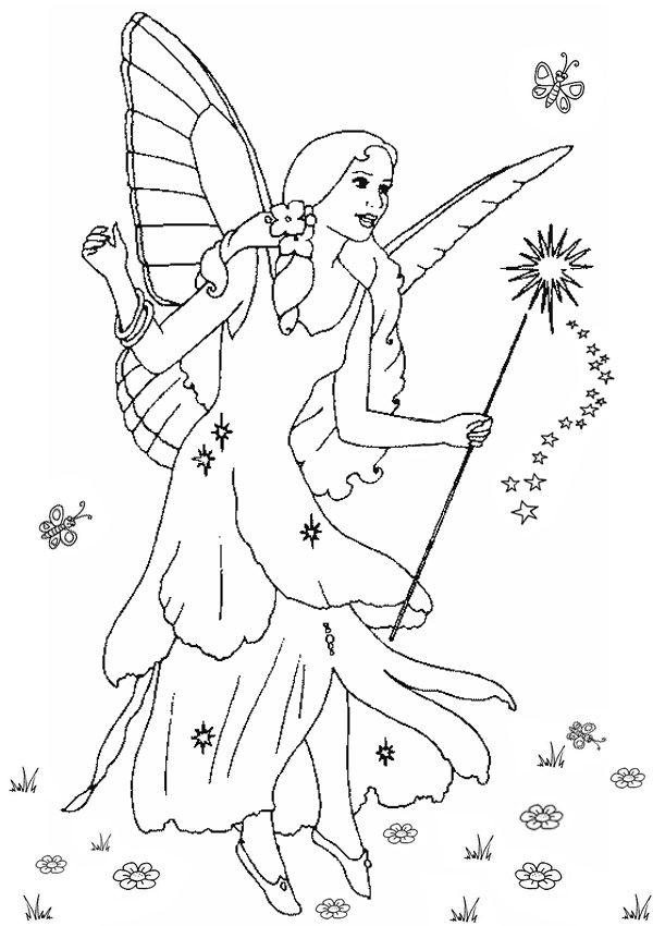 Free Online Printable Kids Colouring Pages  Francesca The Fairy