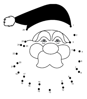 Father Christmas Dot To Dot