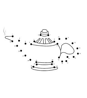 Genie Lamp Dot To Dot