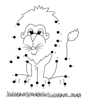 Lion Dot To Dot