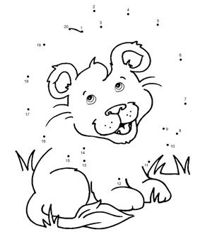 Lion Cub Dot To Dot