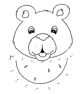 Smiling Bear Dot To Dot